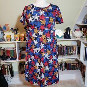Lularoe Americana Carly Dress w Pocket XXS NWT